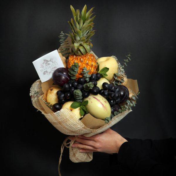 Букет с ананасом фото